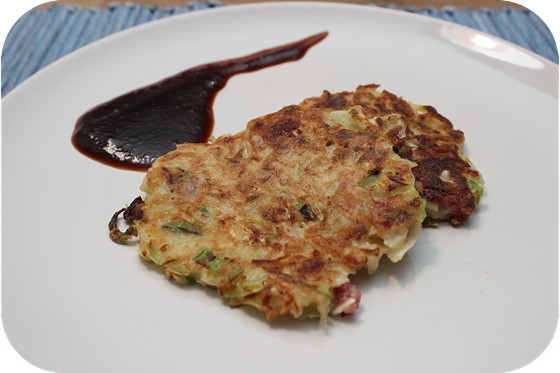 Okonomiyaki (Japanse Hartige Pannenkoek)