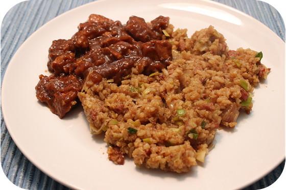 Nasi Keboeli met Saté