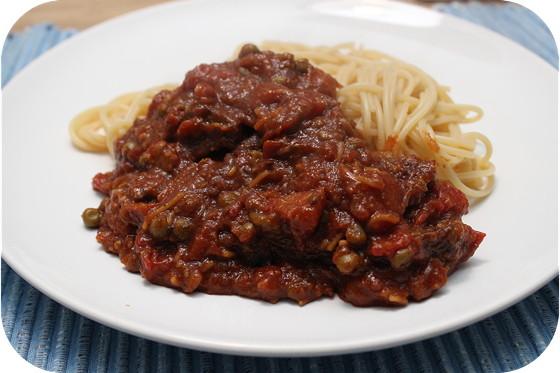 Spaghetti met Indische Hachee