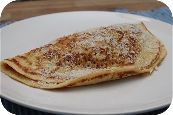 Pannenkoeken Gevuld met Kip en Chorizo
