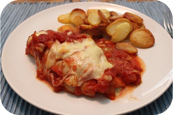 Kip Gevuld met Spinazie en Mozzarella uit de oven