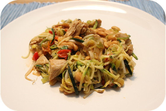 Pad Thai met noodles van Courgette