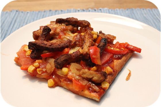 Barbecue Chicken Pizza NY-Pizza style