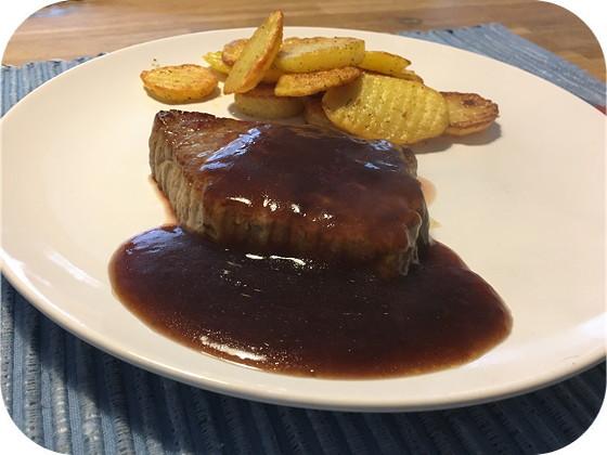 Biefstuk met Rode Wijnsaus