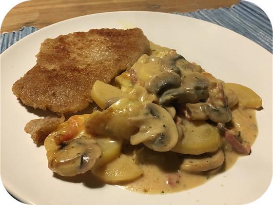 Jäger-Auflauf (Aardappelovenschotel)