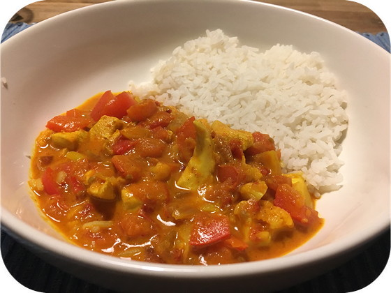Indiaase Madras Curry met Rijst