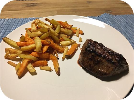 Biefstuk met Pastinaak en Wortelfriet