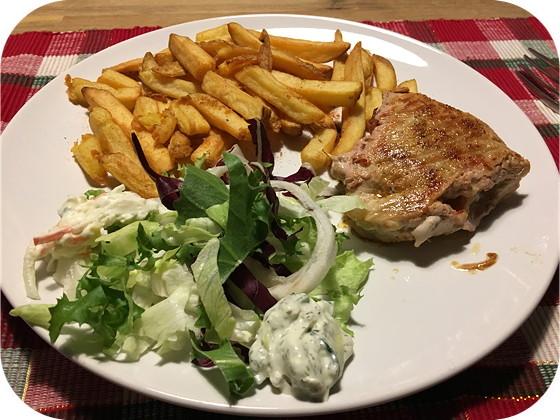Schnitzel gevuld met Ossenworst
