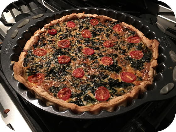Vega: Spinazie Quiche
