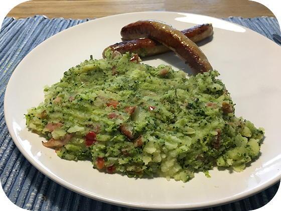 Broccoli Stamppot met Spekjes en Paprika