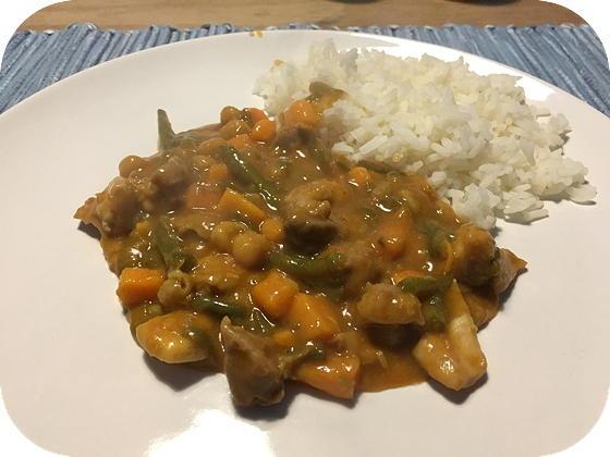 Curry met Zoete Aardappel en Kip