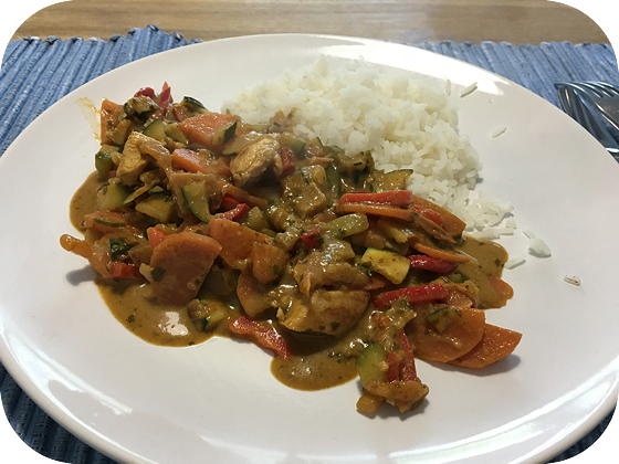 Thaise Groene Curry met Rijst