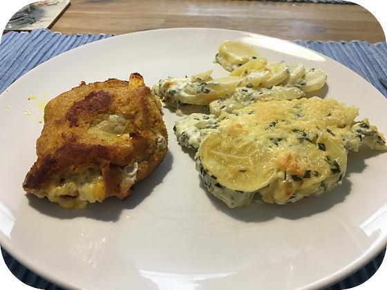 Cordon Bleu met Aardappel Bieslook Gratin
