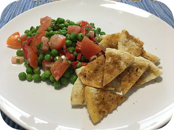 Fattoush Salade met Kruidige Pita