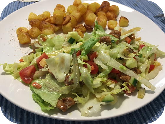Salade met Kipreepjes