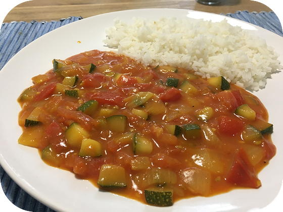 Vegetarische Curry met Courgette