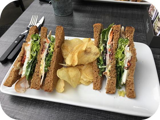 Bosrestaurant Overberg clubsandwich