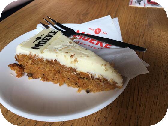 Borrelen bij Moeke in Rhenen carrot cake