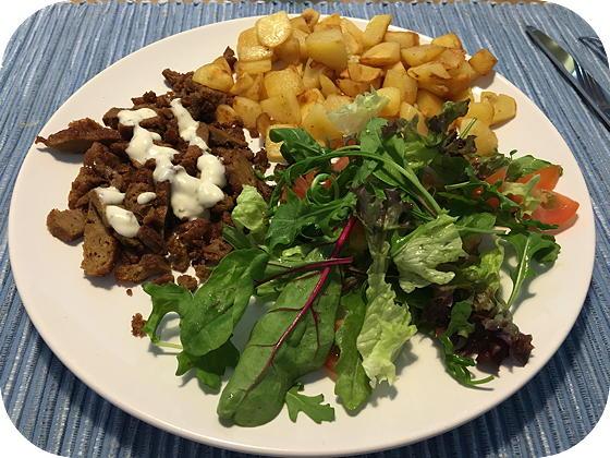 Salade met Vegetarische Shoarma