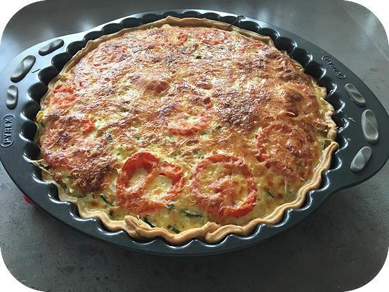 Vegetarische Quiche met Courgette en Prei