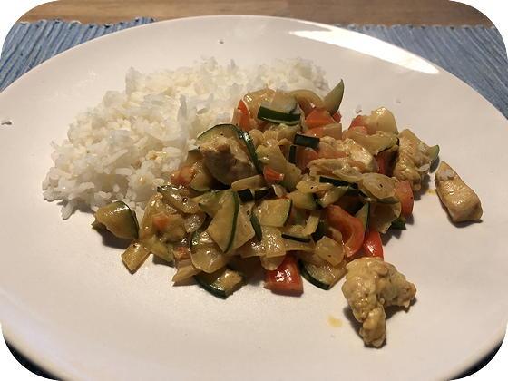 Rijst met Kip, Courgette en Paprika