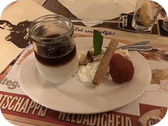 Uiteten bij Hotel Frederiksoord kruidkoekparfait