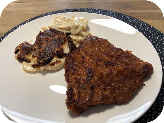 Schnitzel met Aardappelgratin