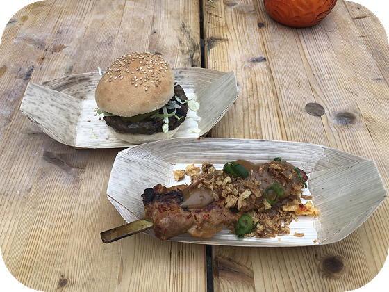 Foodfestival bij Congress in NH Leeuwenhorst Noordwijkerhout hamburger, kipsaté