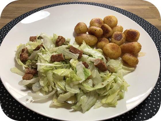 Salade met Kipsticks