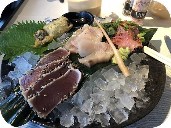 Van der Valk Dordrecht sashimi en tataki