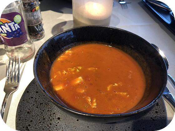 Van der Valk Dordrecht Thaise tomatensoep