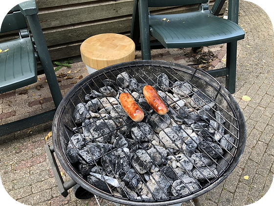 Barbecue bbq-worstje