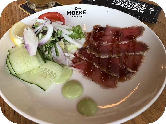 Verjaardag bij Moeke Rhenen rosbief van tonijn