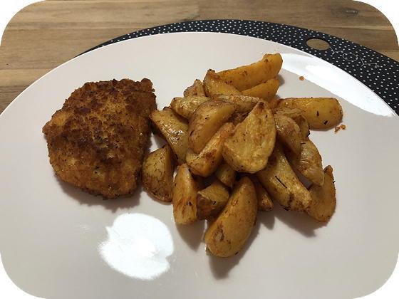 Vegetarische Satéschnitzel met Smokey Aardappeltjes
