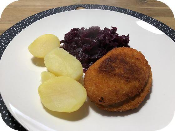 Rode Kool met Satéschnitzel