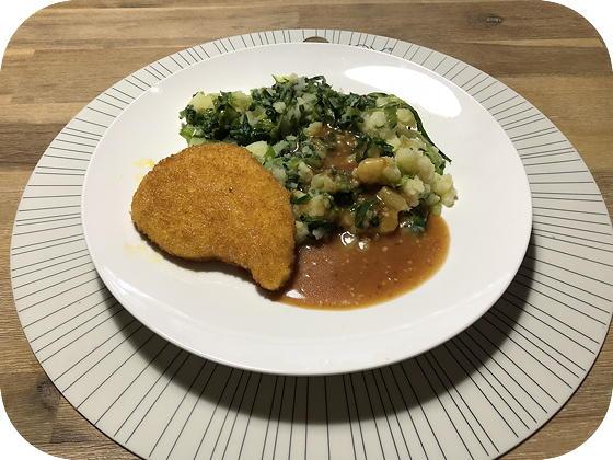 Andijviestamppot met Vegetarische Schnitzel