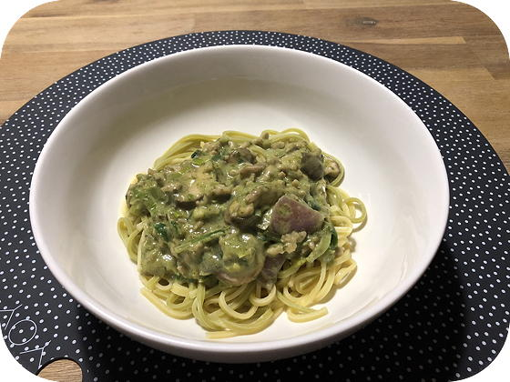 Spaghetti met Kipgehakt in Spinazie-ricottasaus