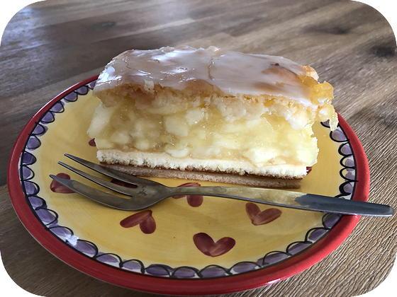 Horsthempke Kleve gedekte appelkoek, gedeckter apfelkuchen