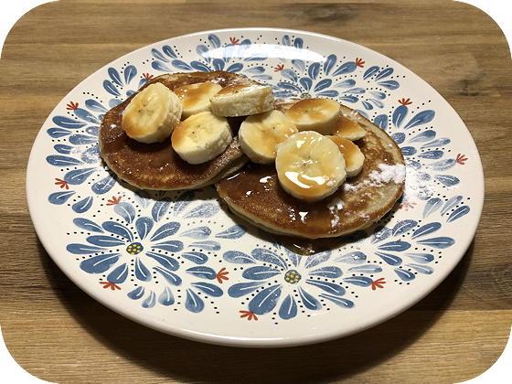 Pannenkoekjes met Banaan en Karamelsaus