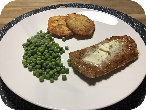 Schnitzel met Kruidenboter