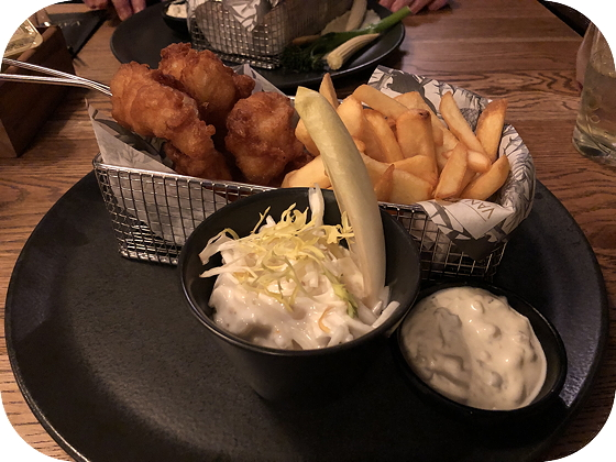Brasserie Hotel Van Der Valk Leiden fish and chips