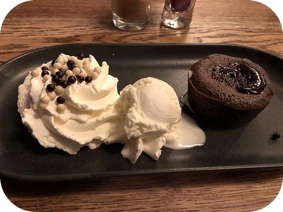 Brasserie Hotel Van Der Valk Leiden meltdown cake