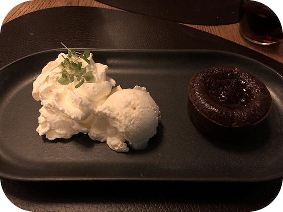 Brasserie Van Der Valk Leiden meltdown cake