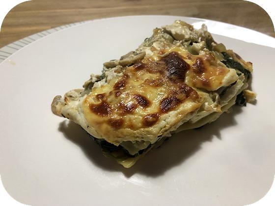 Lasagne met Spinazie, Champignons en Ricotta