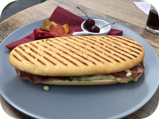 Panini's bij Het Tuincafé bij de Kruidhof in Buitenpost panini kaas