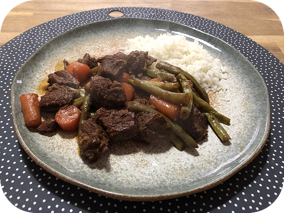 Daging Smoor met Boontjes en Worteltjes