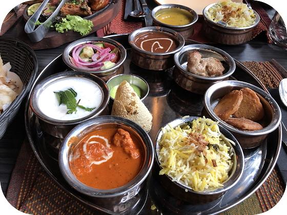 Thali's bij Namastey India Veenendaal