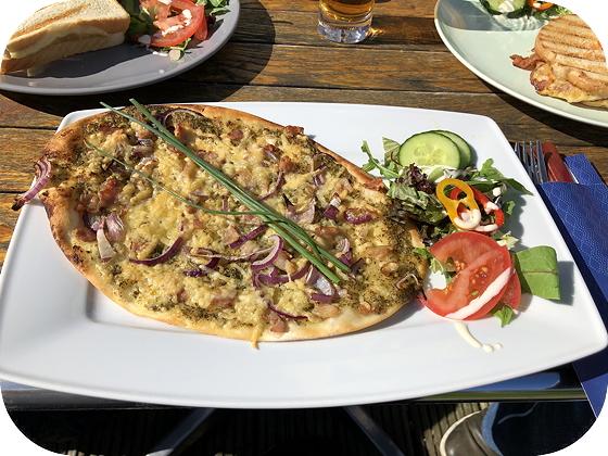 Lunchen bij El Dorado Woudenberg flammkuchen spek