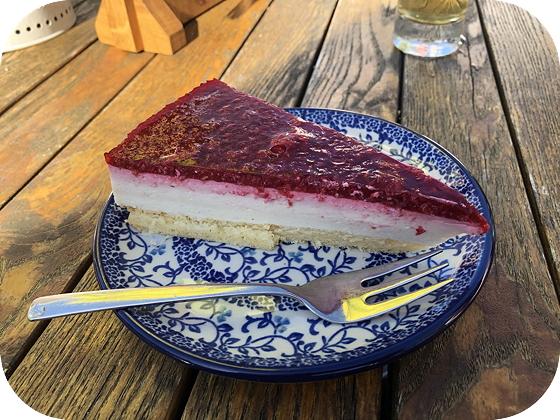 Taartje eten bij El Dorado Woudenberg cheesecake