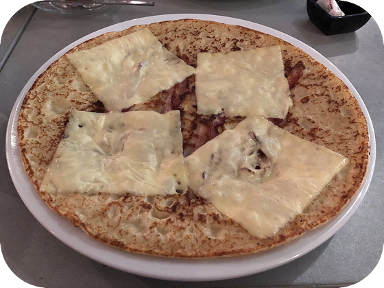 Pannenkoeken bij Bliek Veere spek kaas